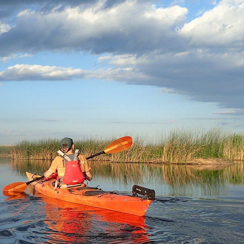 In caiac în Delta Neajlovului
