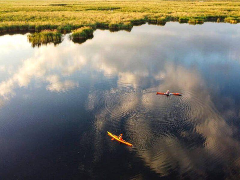 În caiac în delta Neajlovului