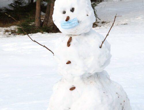 Omul de zăpadă în pandemie